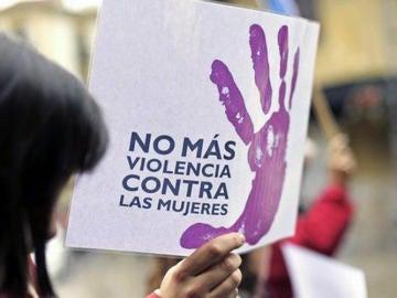 Cartel contra la violencia machista