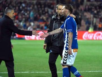 Alexis Ruano, durante un partido con el Alavés