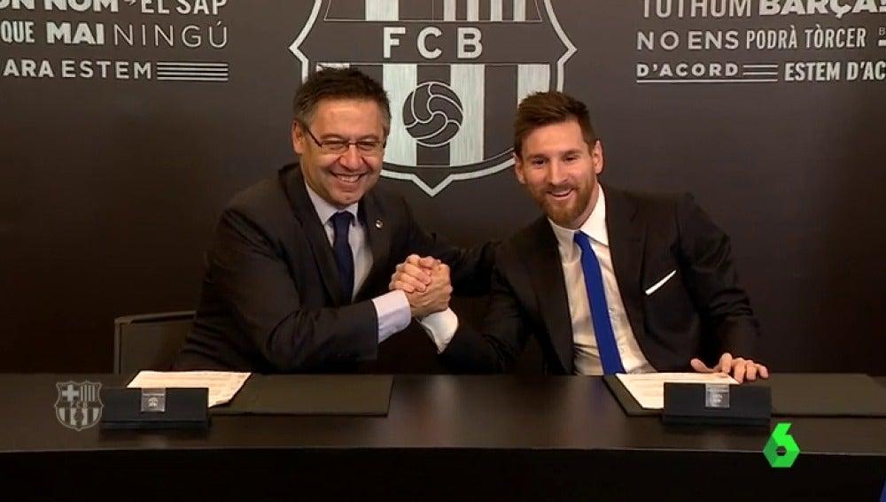 El Barcelona hace oficial la renovación de Lionel Messi hasta 2021
