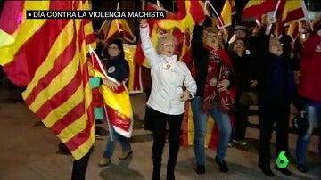 Manifestantes por la unidad de España