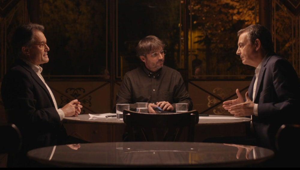 Artur Mas, Évole y Zapatero
