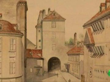 'El viejo municipio', el cuadro pintado por Hitler