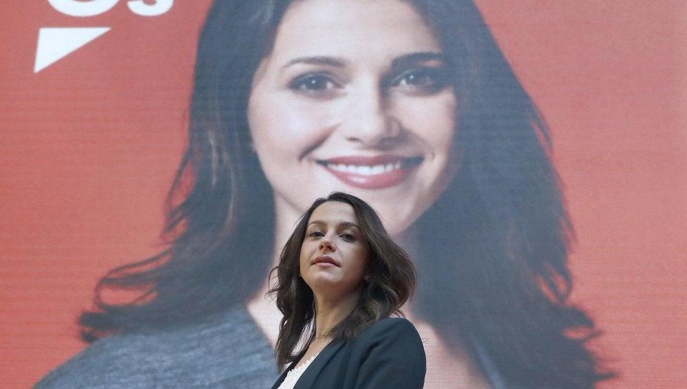 La candidata a la presidencia de la Generalitat, Inés Arrimadas
