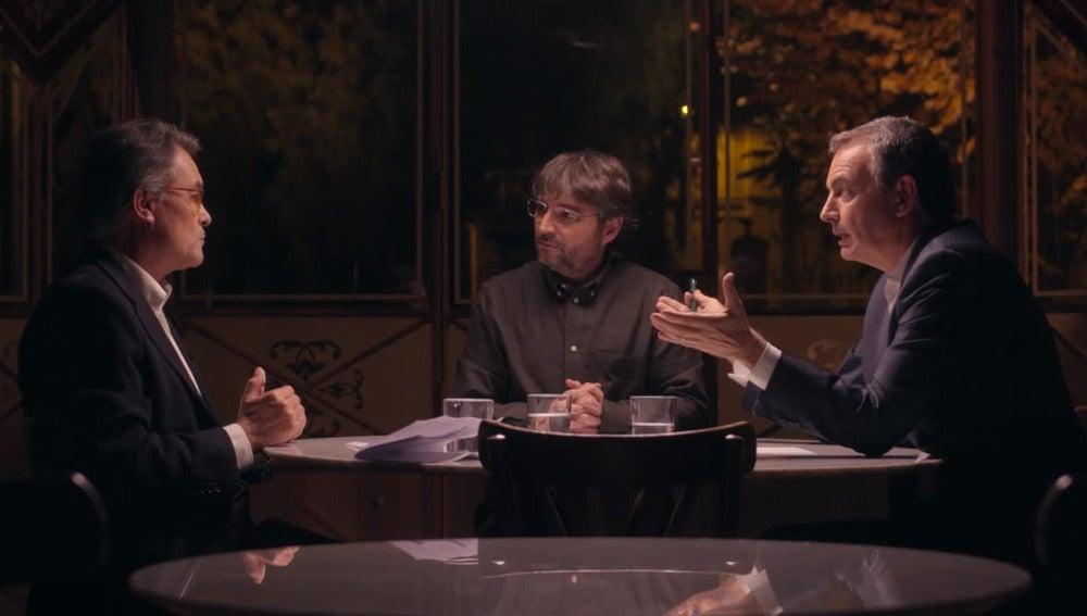 Cara a cara entre Mas y Zapatero en Salvados