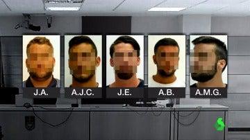 Los cinco acusados de violar a una joven en los sanfermines