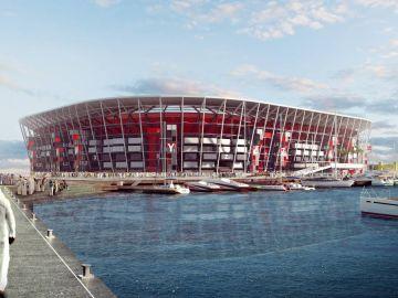 Estadio desmontable en Qatar 2022.