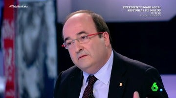 El líder del PSC, Miquel Iceta, en El Objetivo
