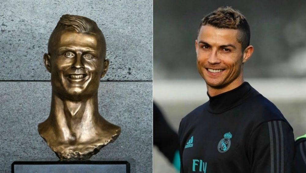 El viejo busto de Cristiano Ronaldo que desató las mofas en la red