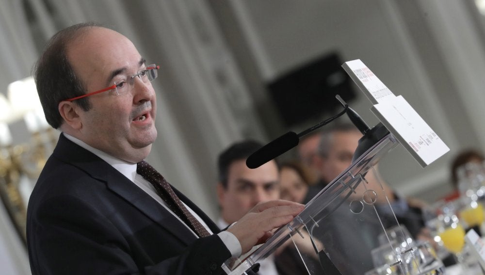 El líder del PSC y candidato de los socialistas para las elecciones del 21 de diciembre en Cataluña, Miquel Iceta