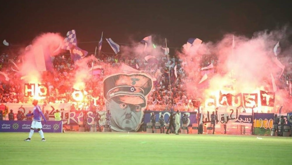 Pancarta de los ultras del Al Hilal Omdurman