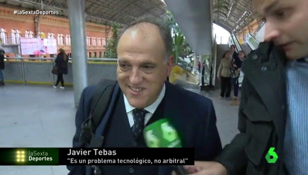 """Javier Tebas: """"Nosotros pedimos el VAR hace dos años"""""""
