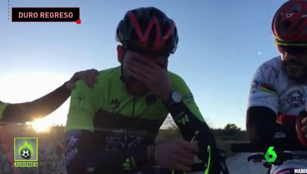 Andrés vuelve a subirse a la bici tras el accidente de Oliva que le costó la vida a su padre