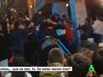 La multitudinaria pelea en Eibar.