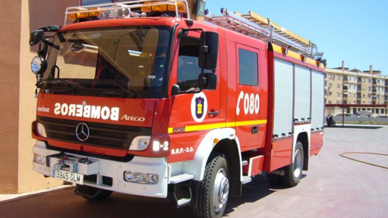 Vehículo del Real Cuerpo de Bomberos de Málaga