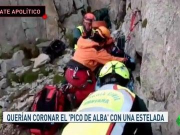 Heroico rescate de la Guardia Civil a dos montañeros independentistas
