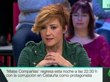 """Cristina Pardo estrena Malas Compañías: """"Había una absoluta dejadez del dinero de todos los catalanes"""""""