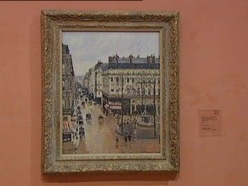 'Rue Saint-Honoré por la tarde. Efecto de lluvia' de Pissarro