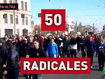 Así son los ultras del Zenit que hacen saltar las alarmas en San Sebastián