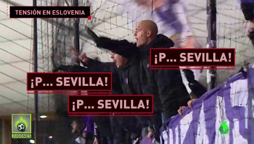 Máxima tensión entre los ultras del Sevilla y los del Maribor en Eslovenia