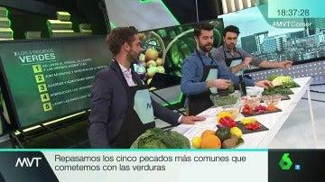 Los cinco pecados con las verduras