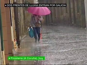 Llega la lluvia a Galicia.