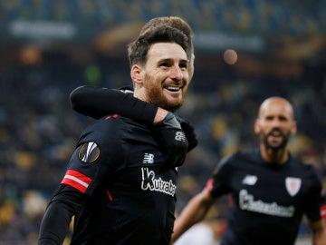 Aduriz celebra su gol contra el Zorya