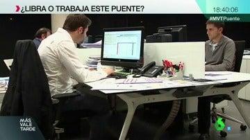 Un empleado en su puesto de trabajo