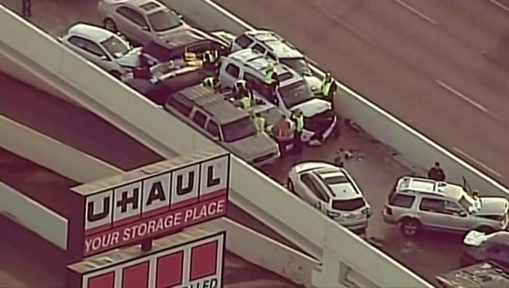 Accidente en cadena en Texas