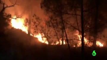 El incendio del municipio de Valderro-Bres, en Teruel