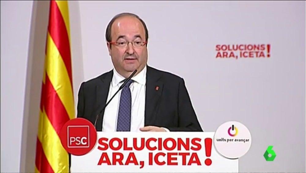 """Miquel Iceta: """"Rajoy no puede negar que existe un problema, si tiene una solución mejor, que la diga"""""""
