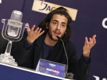 Salvador Sobral durante una rueda de prensa tras su triunfo en el último festival de Eurovisión