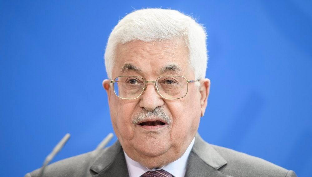 El presidente palestino, Mahmud Abás