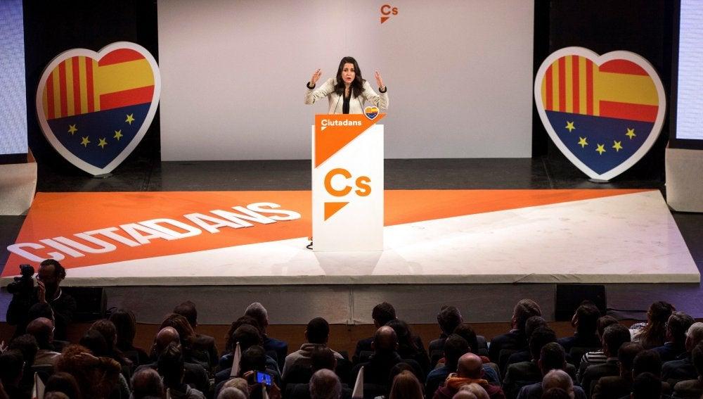 La candidata a la presidencia de la Generalitat por Ciudadanos, Inés Arrimadas