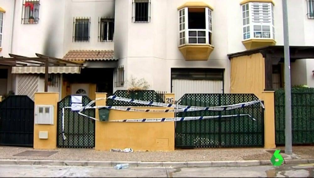 La vivienda de Antequera en la que se ha producido el incendio