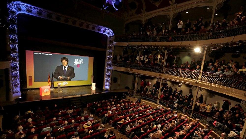 El candidato número uno de Junts per Catalunya (JxCat), Carles Puigdemont