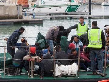 Rescate de personas en el Estrecho de Gibraltar