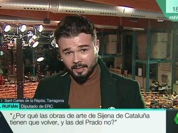 """Gabriel Rufián: """"¿Por qué las obras de arte de Sijena de Cataluña tienen que volver y las de El Prado no?"""""""