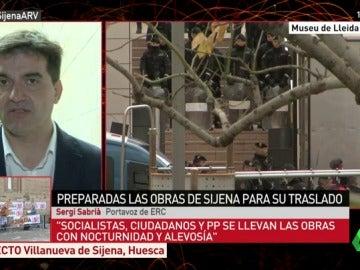 """Sergi Sabrià, sobre la operación Sijena: """"El 155 lo aplicaron para esto, está hecho para arrasarnos"""""""