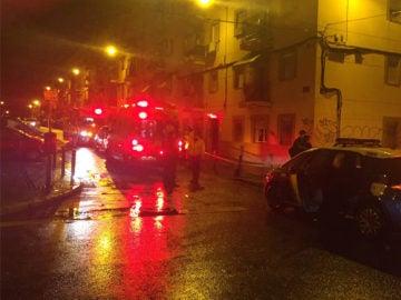Varias ambulancias en el lugar donde tuvo lugar la pelea
