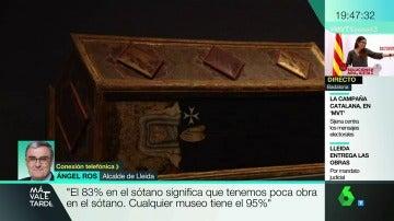 """Ángel Ros: """"Tener el 83% de las obras de Sijena en el sótano es poco. Cualquier museo tiene el 95%"""""""