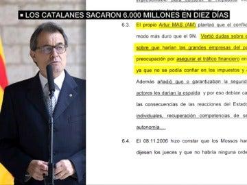 Artur Mas con anotaciones de la agenda de Jové