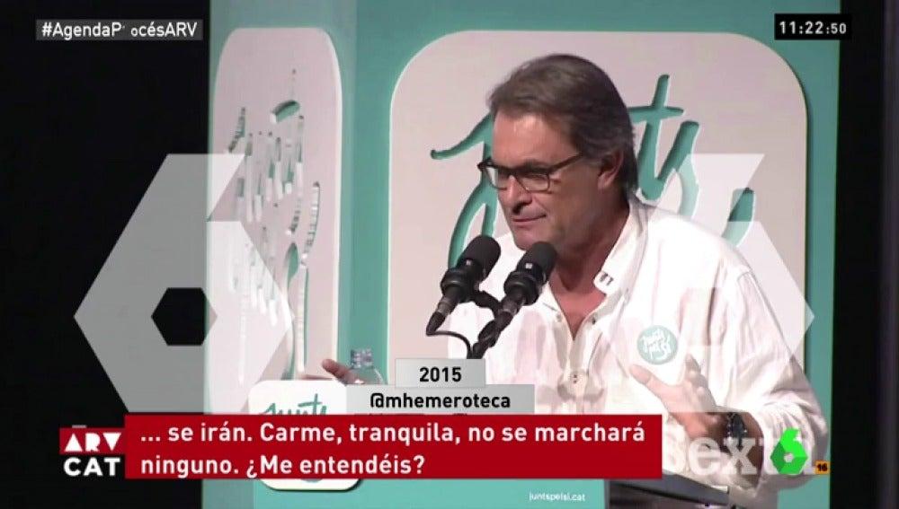 Artur Mas en un acto de campaña en 2015