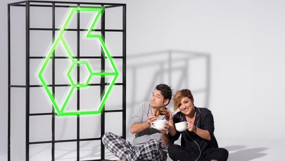 Cristina Pardo e Iñaki López, en pijama y con churros