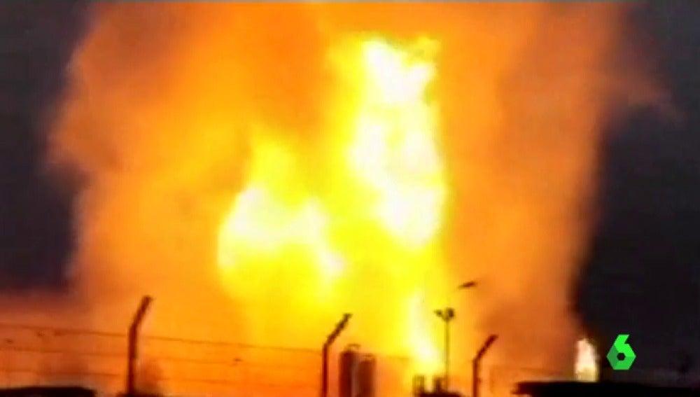 Enorme incendio tras la explosión de uno de los principales gasoductos centroeuropeos