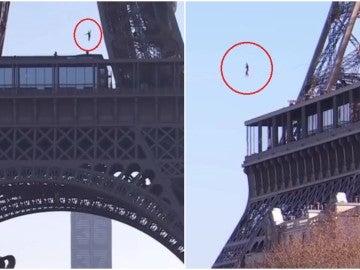 Nathan Paulin cruza desde la Torre Eiffel hasta Trocadero