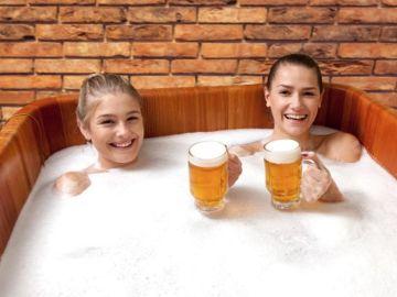 Así es el 'Beer Spa'