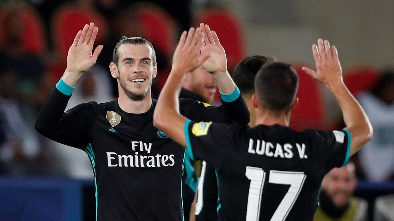 Bale y Lucas Vázquez celebran el gol de la victoria