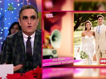 """El """"desahogo"""" de Josie al criticar el look de Ana Boyer y Fernando Verdasco: """"Nadie va a soñar con una boda así"""""""