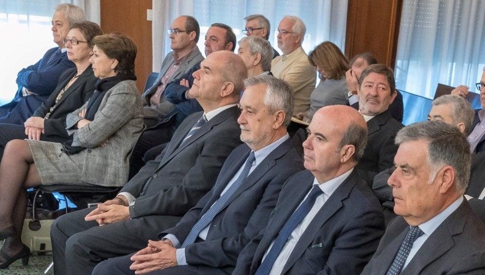 Manuel Chaves y José Antonio Griñán en el juicio de los ERE
