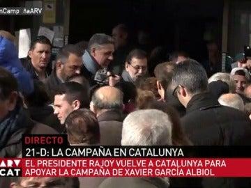 Rajoy junto a Albiol en Badalona